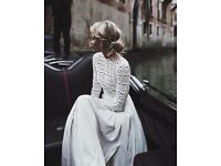 Self Portrait Pleated Crochet Maxi Dress Size 10 BNWT Never Worn (as seen on Kate Middleton)