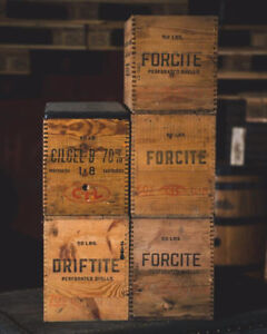 Old Wood Boxes and Crates