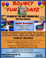 Bouncy Birthday Parties & Public Play!