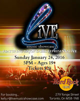 """Live Music Showcase"" @ Hard Rock Cafe:Toronto"