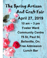 The Spring Artisan and Craft Fair  A Call for Vendors