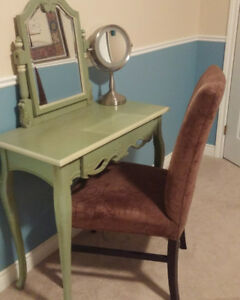 Makeup table with chair