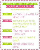 I am looking for a mommy helper :)