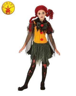 RD Girls Costume Fancy Dress Halloween Scary - Undead ZOMBIE GIRL CLOWN 641127