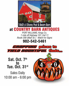 Harvest Home Sale at Country Barn Antiques