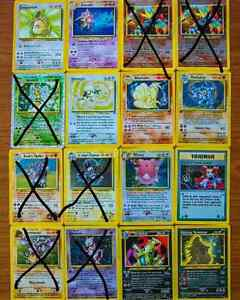 Selling Pokemon Cards 1st Gen - XY - Holo and Rares