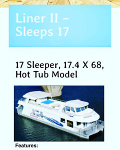 Houseboat week for sale Aug 3-10, 2019