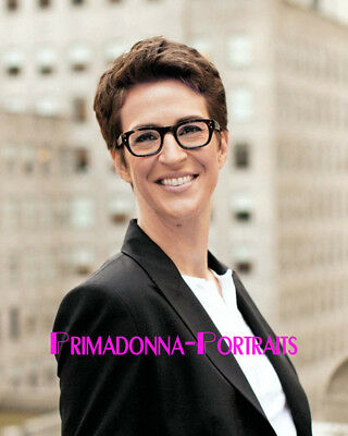 Rachel Maddow 8X10 Lab Photo 10S News Anchor Journalist Graceful Portrait