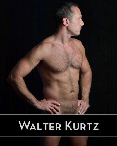 "Signed WALTER KURTZ 8""x10"" Male Nude Color Print ""LK1"""