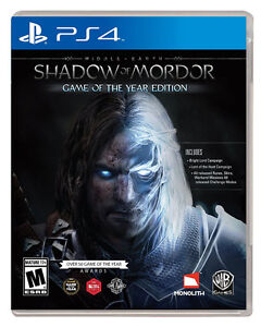 MIDDLE EARTH SHADOW OF MORDOR PS4 GAME OF THE YEAR EDITION