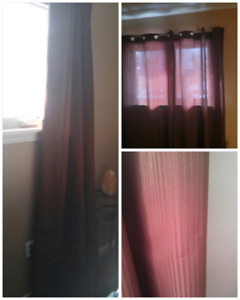 Brown panel curtains