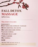 Fall Detox Massage Special