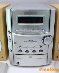 Kenwood System with Sharp Speakers