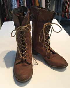 """Steve Madden """"lace ups"""" with side zip"""