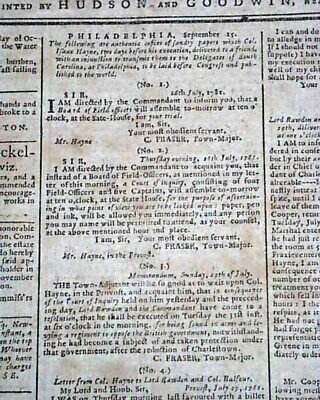 Rare AMERICAN REVOLUTIONARY WAR Hartford CT w/ Great Content 1781 U.S. Newspaper
