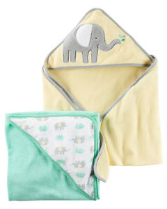 Carter's 2-Pack Elephant Hooded Towels