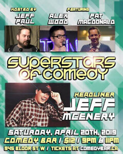 The Superstars of Comedy - Saturday, April 20th