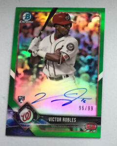 Victor Robles Autographed Rookie Card