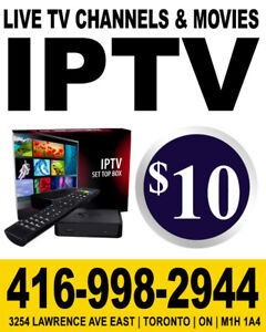 IPTV  | 4K High Quality Channels| Movies & Live TV |  $10
