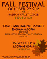 Fall Festival Craft Sale and Harvest Dinner