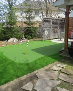 Artificial turf- landscaping and golf green