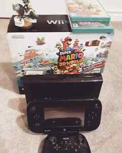 Wii U Super Mario 3D World with 6 games and Pro Remote