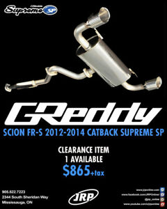 SCION FRS GREDDY CATBACK SUPREME SP EXHAUST