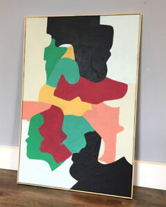 Large & Bright MODERN ABSTRACT PAINTING from Colin Ross Creative
