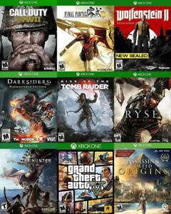 Xbox One Games For Sale or Trade - WW2, Wolfenstein, GTA 5, more
