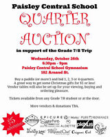 Paisley Central School Quarter Auction