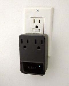 Outlet Adapter with 2 Outlets and 4 USB Ports