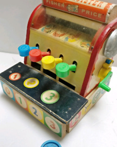 Vintage wood Fisher Price cash register