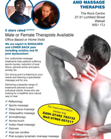 Advanced sports massage therapy in Walsall