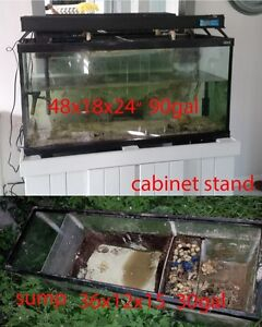fish tank 90 gal with sump