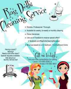 Rag dolls cleaning service Windsor Region Ontario image 1
