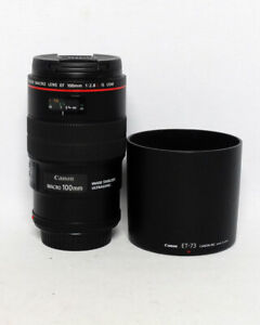 Canon EF 100mm 1:2.8 L IS USM Macro Prime Lens $875 MINT