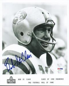 49ERS BOB ST CLAIR SIGNED AUTHENTIC 8X10 PHOTO AUTOGRAPHED PSA/DNA #U70341