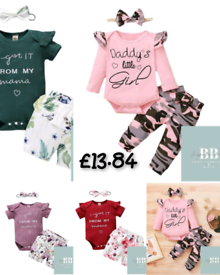 0-18M NEWBORN INFANT BABY VALENTINE PRINT ROMPER BODYSUIT