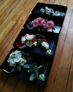 Fresh Floral Corsages and Boutonnieres for Prom.