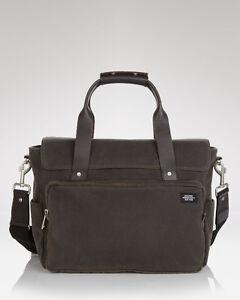 Jack Spade - Waxwear Cotton Brown Briefcase Messenger Bag (RARE)
