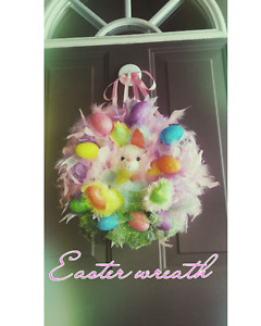 NEW EASTER BUNNY WREATH