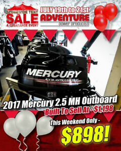 Adventure Power Products Tent Sale! Mercury Outboards!