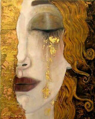 GUSTAV KLIMT GOLDEN TEARS 8 X 10  ART PRINT