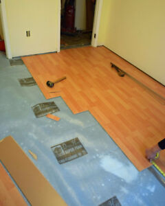 Laminate & Vinyl Floor Installs Starting at 95 Cents A SQFT !!