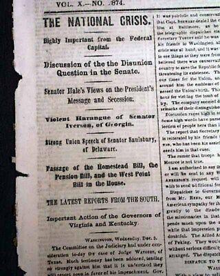secession crisis of 1860 61
