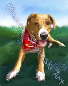 Have a portrait of your favourite pet painted/drawn for you