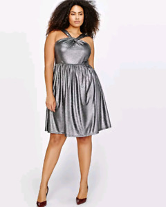 Michel studio silver dress: addition elle