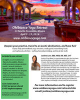 OMbiance Yoga Retreat - Mexico, April 9-15, 2016