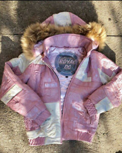 Pink Leather Scarface Bomber