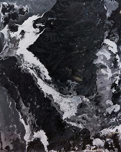 Contemporary Fluid Acrylic Painting Canvas 20x16